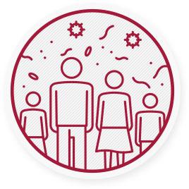 Saisonale Grippeviren verbreiten sich weltweit und können Personen aller Altersgruppen befallen.