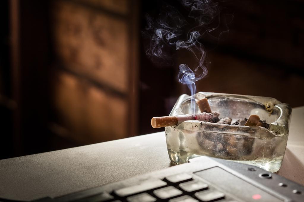 nicht in Innenräumen rauchen