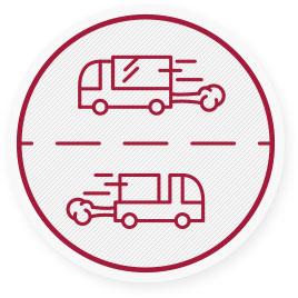 50% der heute auftretenden Außenluftverschmutzung sind auf den Straßenverkehr zurückzuführen.