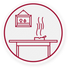 Menschen, die Rauch in Innenräumen ausgesetzt sind, erkranken 2-3 mal häufiger an einer chronischen Lungenerkrankung.
