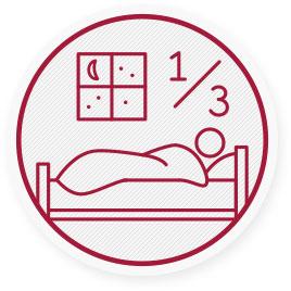Életünk 1/3-át ágyban töltjük, alvással. Kutatások szerint a lakosság majdnem 2/3-a hátfájástól szenved.