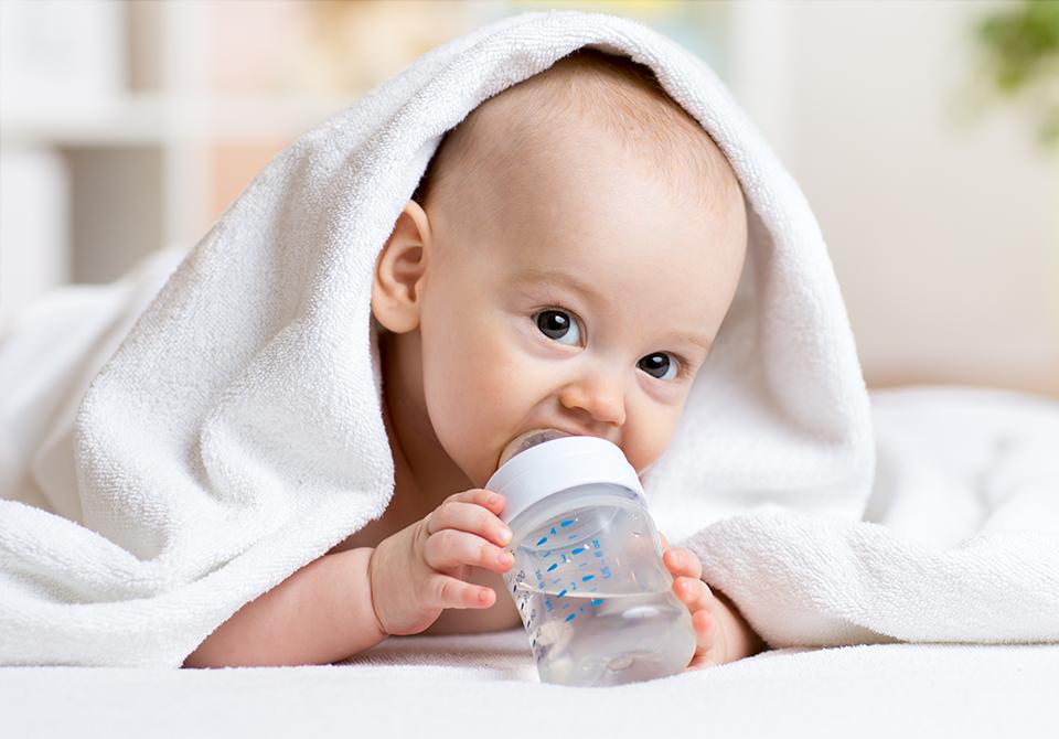 Tisztítót víz kisbabáknak