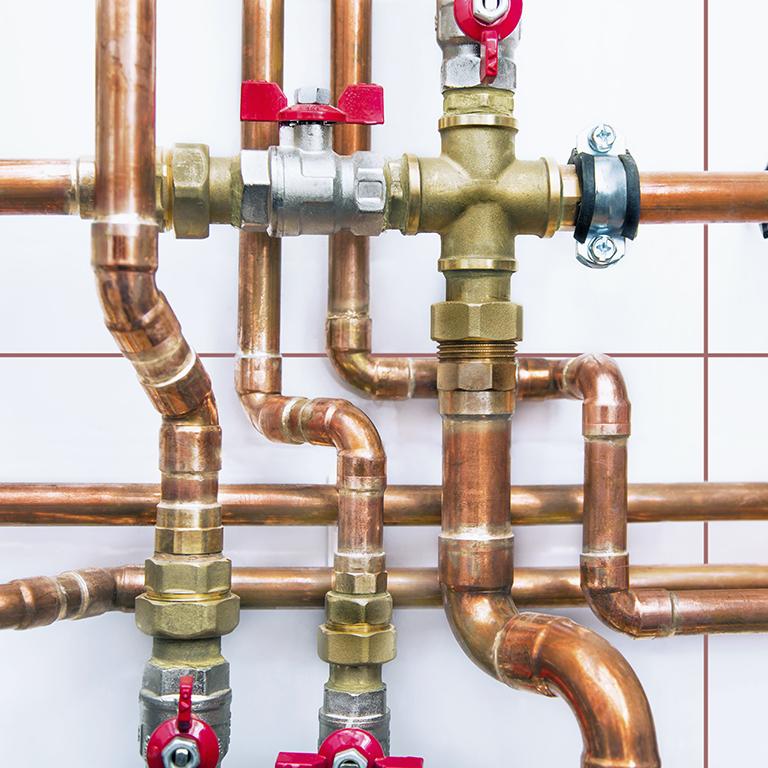 kontroller den fysiske tilstanden på vannrørene i veggene