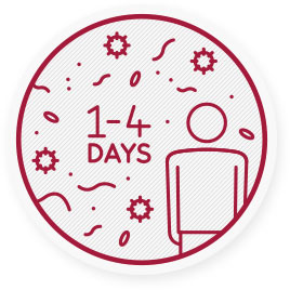 Chrípka spôsobuje upchatý nos, kašeľ, horúčku, bolesti svalov a únavu 1-4 dni po prepuknutí vírusu.