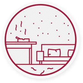 Vdychovanie znečisteného vzduchu v miestnosti môže spôsobiť vážne zdravotné problémy.